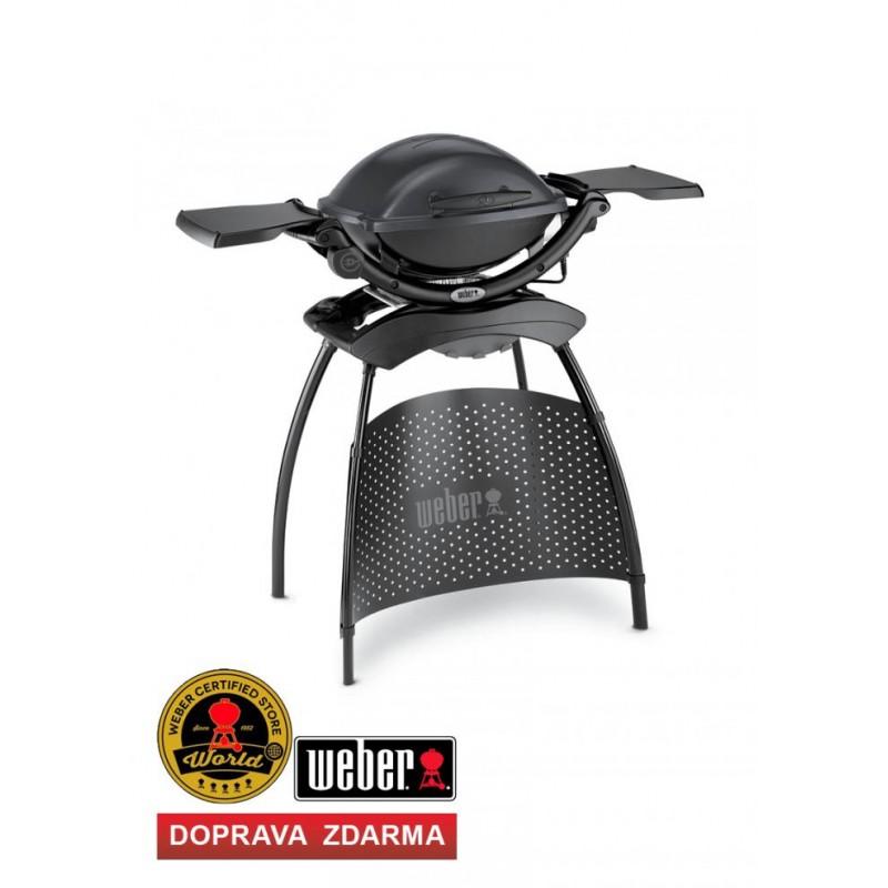 Elektrický gril WEBER Q 1400 Dark Grey Stand