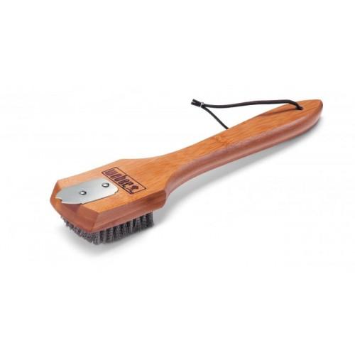 Grilovací kartáč s bambusovou rukojetí, 30 cm