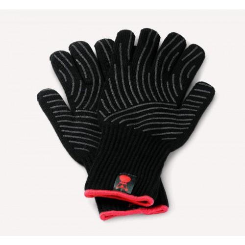Sada grilovacích rukavic se silikonovou plochou, černá S/M