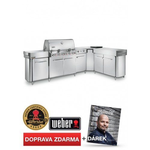 WEBER Summit Grill-Center GBS, ušlechtilá ocel
